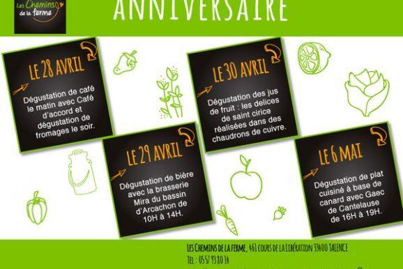 Anniversaire de votre magasin de produits frais et de saison à Talence